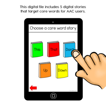 AAC Core Words No Print Stories Set 4