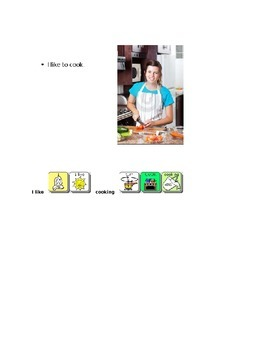 AAC Core Words book- I want and kitchen vocabulary