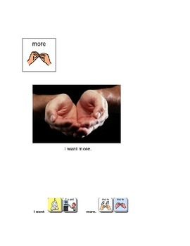 AAC Core Words book- MORE