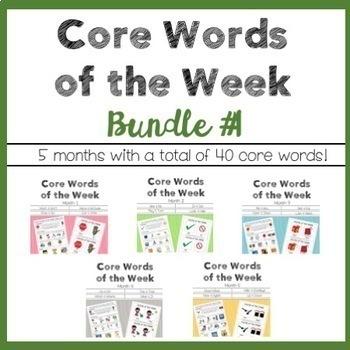AAC Core Words of the Week: 2 Words/Week - Bundle 1