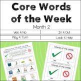AAC Core Words of the Week: 2 Words/Week - Month 2