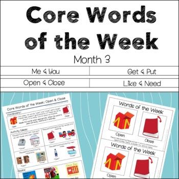 AAC Core Words of the Week: 2 Words/Week - Month 3