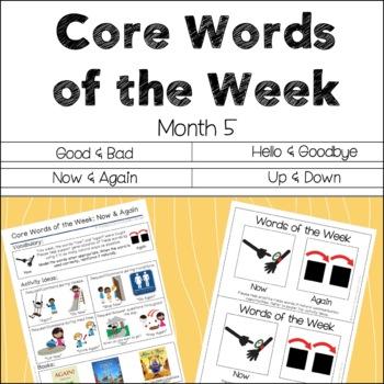 AAC Core Words of the Week: 2 Words/Week - Month 5