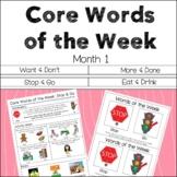 AAC Core Words of the Week: 2 Words/Week - Month 1