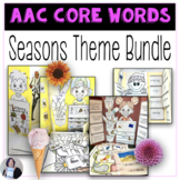 AAC Core Vocabulary Thematic Activities Seasonal Bundle for Speech Therapy