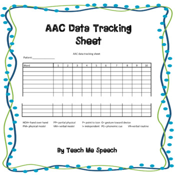 AAC Data Tracking Sheet