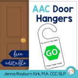 AAC Door Hangers : Free & Editable