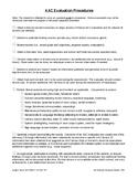 AAC Evaluation Procedures Checklist