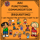 AAC Functional Communication - I CAN REQUEST THE ACTIVITIE