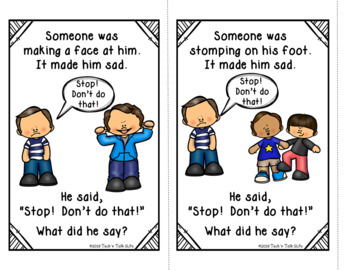 AAC Functional Communication - I CAN USE MY WORDS WHEN OTHERS ARE UNKIND!