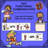 """AAC Functional Communication - I can ask and answer: """"What"""
