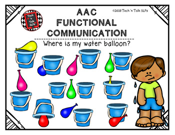 AAC Functional Communication - I can ask and answer 'where' questions!
