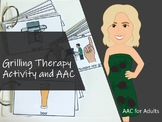 AAC Grilling Vocabulary and Mini-Flip Book