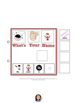 AAC About Me Interactive Communication Book-Male Version