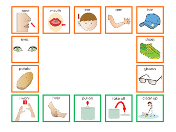 """AAC Mats for Working with """"Make-a-Face"""" Spud Toys"""