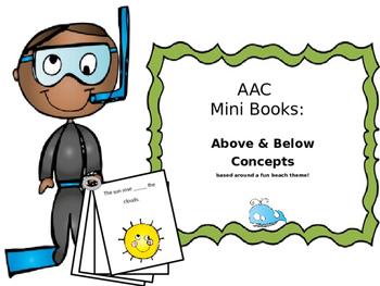 AAC Mini Book 4: Above & Below Concept Practice for Verbal & Nonverbal Students