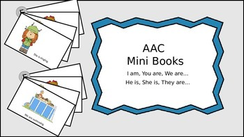 AAC Mini Books Set 2: I am, You are, We are, He is, She is, They are...