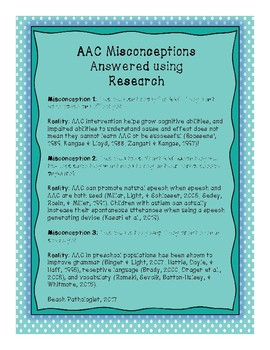 AAC Misconceptions