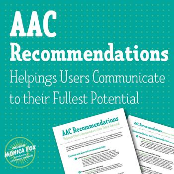 AAC Common Mistakes and Recommendations