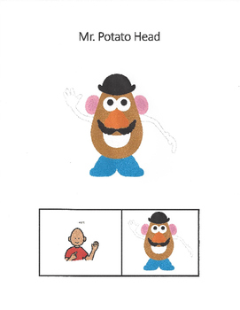 photo about Mr Potato Head Printable Parts called AAC - Mr. Potato Thoughts - System Areas