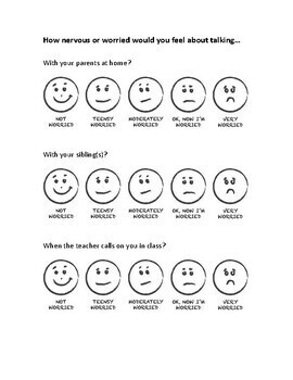 Fluency Situation Anxiety Scale