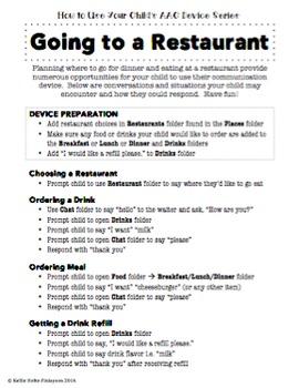 AAC Parent Series- Going to a Restaurant