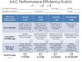 AAC Performance Efficiency Rubric