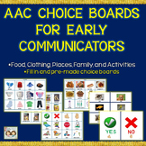 Speech Therapy: AAC Choice Boards: 375 Pictures & 50 Pre-made Boards!