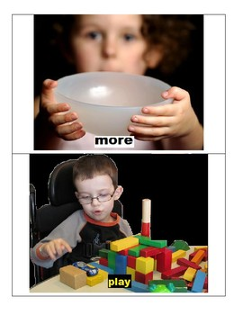 AAC Picture Communication Book for Physically Disabled / VI