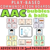 AAC Play-Based Communication Boards: Balls & Bubbles