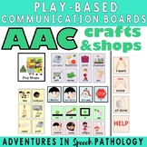 AAC Play-Based Communication Boards: Crafts & Shopping