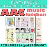 AAC Play-Based Communication Boards: Kitchen & Music