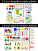 AAC Play-Based Communication Boards: Play Dough & Blocks
