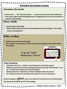 AAC: Shared Reading Strategies