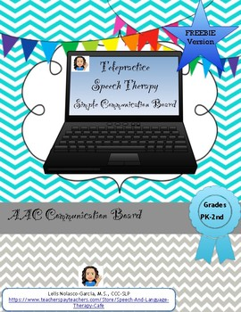 AAC: Simple ST AAC Communication Board-FREEBIE