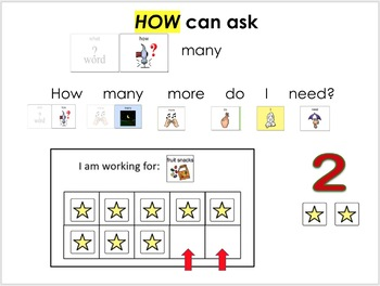 """AAC Social Group/Dyad Lesson (""""How"""" Question/Quantity) with Jumping Jack Game"""