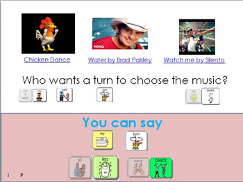 AAC Social Group Lesson: Dancing (Version 2). Includes Video Models
