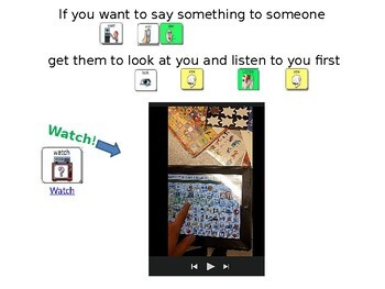 AAC Soical Group Lesson (Gaining Attention) Includes Video Model & Visuals