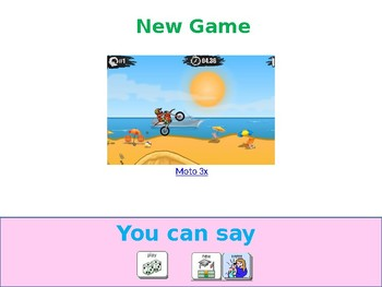 AAC Soical Group Lesson (Playing Comp./iPad Games) Includes Video Model &Visuals