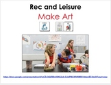 AAC Soical Group Lesson (Sharing - Making Art) Includes Vi