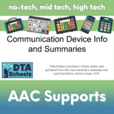 AAC Speech Generating Device Summaries: Get To Know Your P