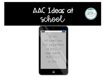 AAC Support for Beginnners