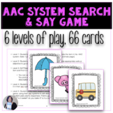 AAC System Search and Say Game Activity for Augmentative C