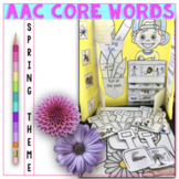 AAC Core Vocabulary Thematic Activities for Spring Speech Therapy