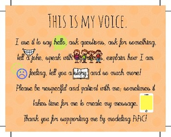 """AAC """"This is My Voice"""" device tag"""