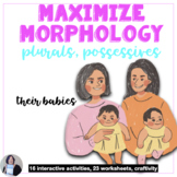 AAC Core Vocabulary Morphology Activities for Plurals and