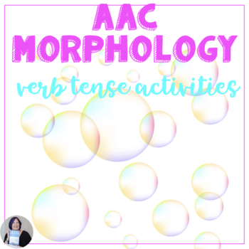 AAC Users Maximize Morphology Core Verb Tense Lap Books | Core Vocabulary