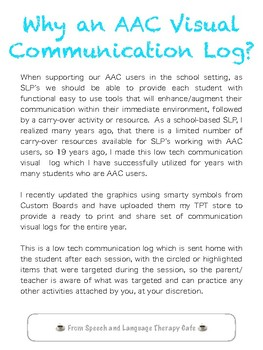 AAC Visual Communication Logs For the Entire Year