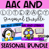 AAC and Literacy for the SEASONS! {Speech Therapy Bundle}