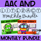 AAC and Literacy for the YEAR! {Speech Therapy Bundle}